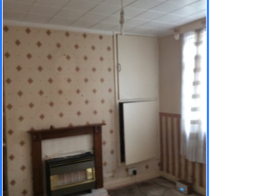 Wall paper needing removing