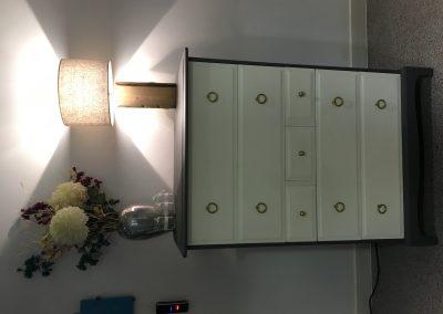 furniture cream drawers lamp