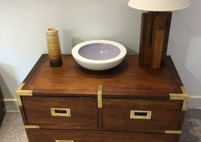 Brass-finished storage unit