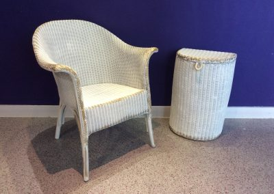 Raffia chair and basket